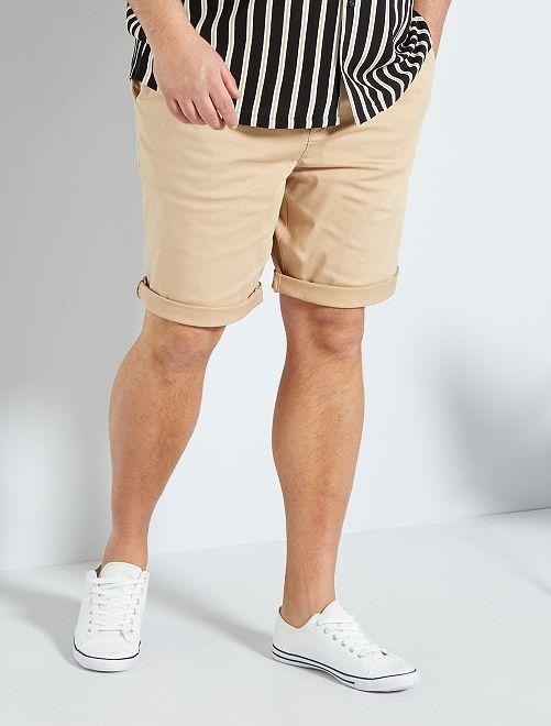 Bermuda chino + ceinture                                         beige