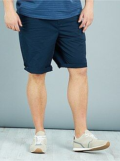 Grande taille homme Bermuda chino en twill