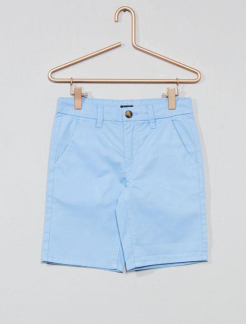 Bermuda chino en twill                                                                             bleu Garçon