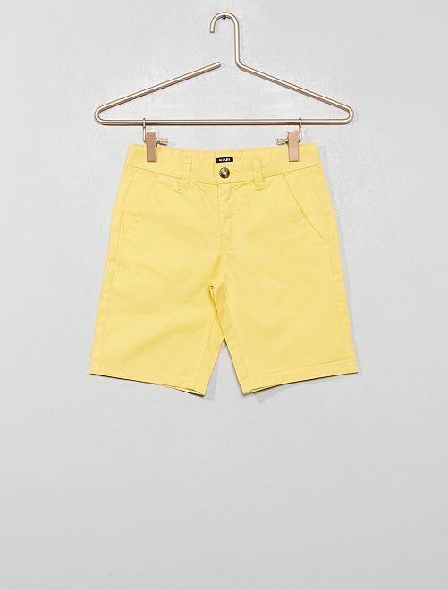 Bermuda chino en twill                                                                             jaune Garçon