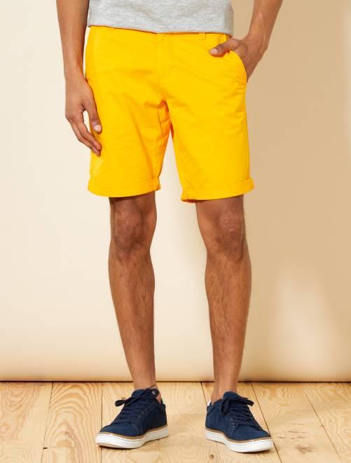 Bermuda chino en twill léger                                                                             jaune Homme