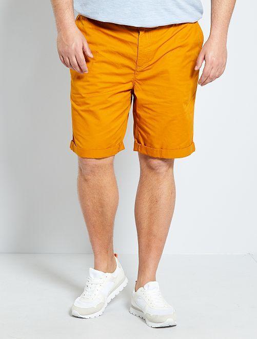 Bermuda chino en twill                                                                                                     orange