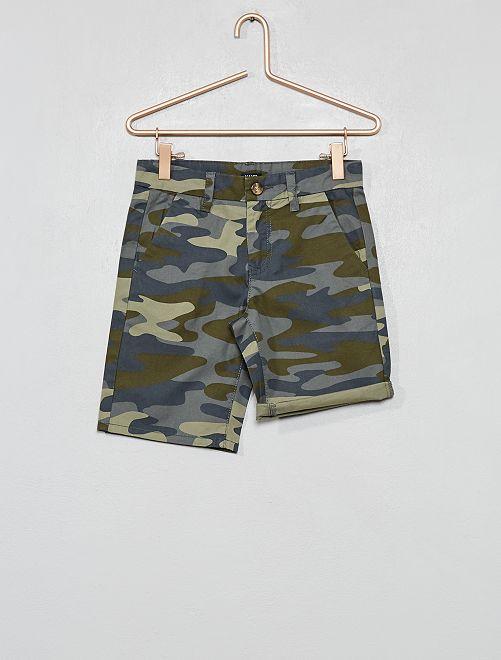Bermuda chino                                                     kaki camouflage Garçon