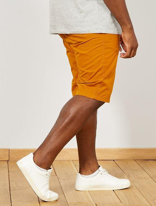 bermuda chino uni grande taille homme orange kiabi. Black Bedroom Furniture Sets. Home Design Ideas