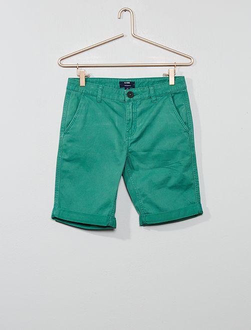 Bermuda chino                                                                             vert Garçon adolescent