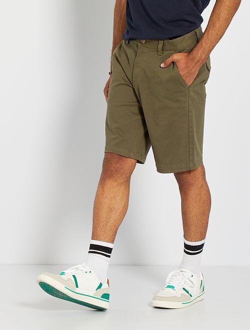 Bermuda coton                                                     kaki