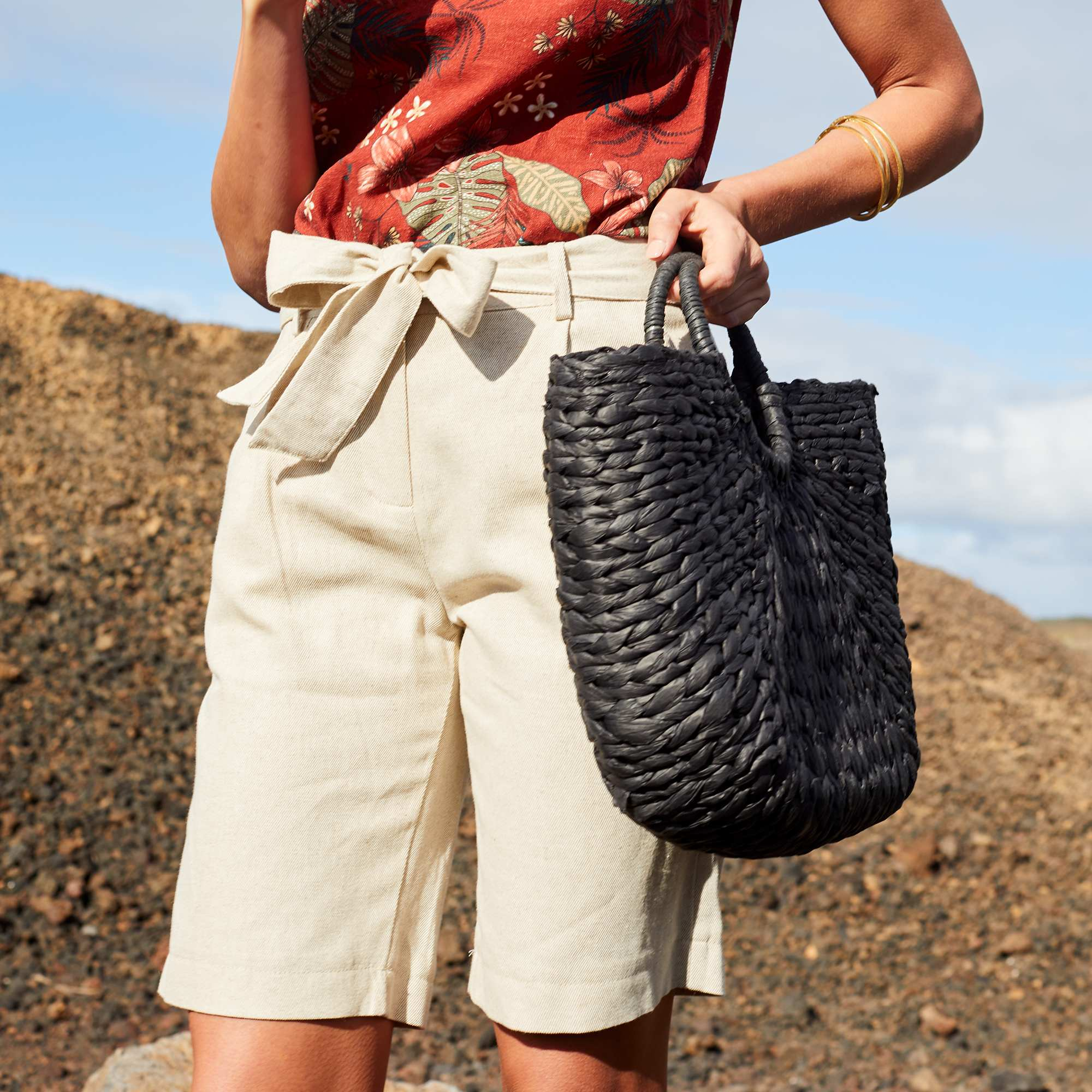 186182f776b93 Bermuda en coton et lin Femme - beige - Kiabi - 13,50€