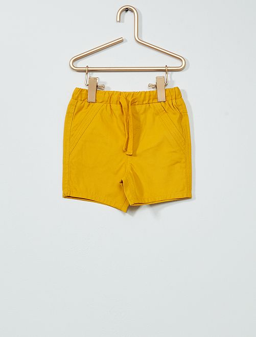 Bermuda en coton                                                                 jaune bronze