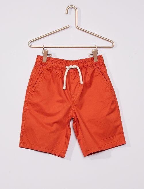 Bermuda en coton                                                                 orange