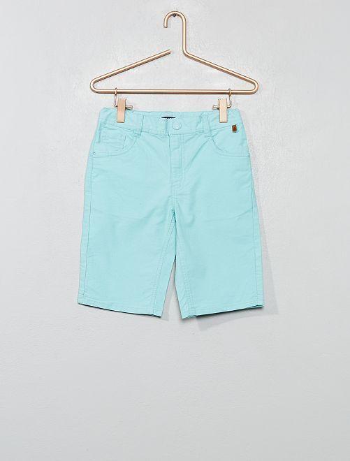 Bermuda en coton stretch texturé                                         bleu turquoise Garçon