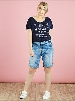 Pantacourt, short - Bermuda en denim
