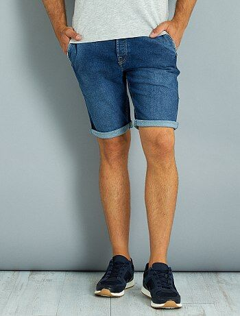 Bermuda en denim stretch