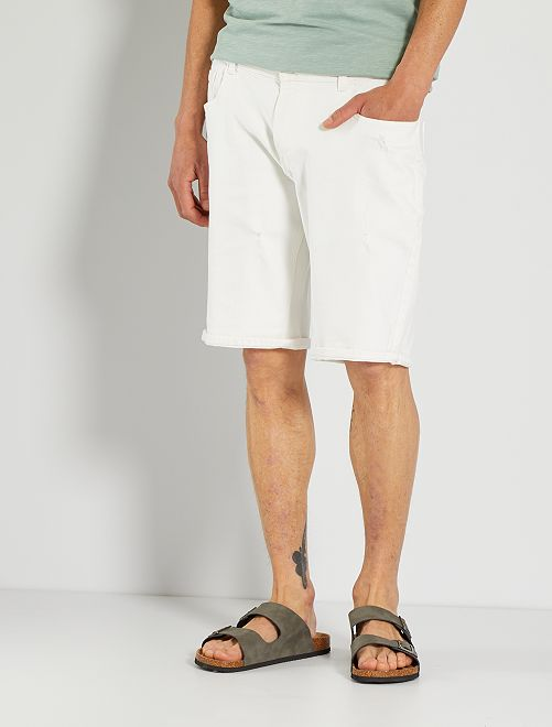 Bermuda en jean                                         blanc