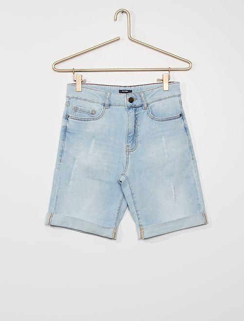 Bermuda en jean                                         bleu
