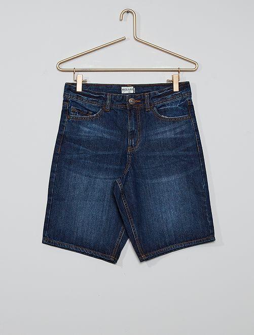 Bermuda en jean éco-conçu                                         BLEU
