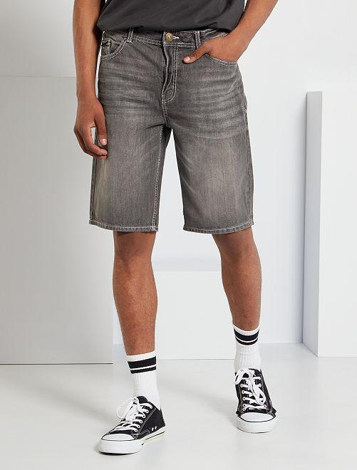 Bermuda en jean éco-conçu                                                                 gris