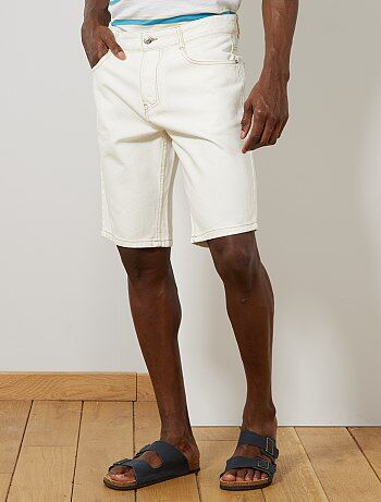 55f254ea28 Bermuda, short Homme   blanc   Kiabi