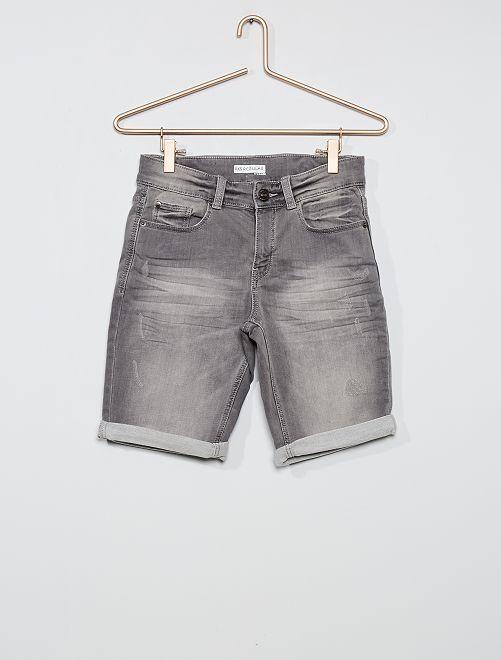 Bermuda en jean                                                                 gris clair