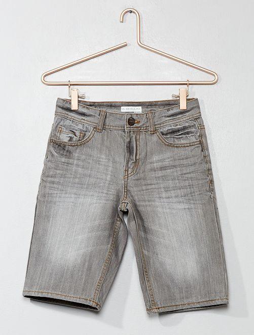 Bermuda en jean                     gris