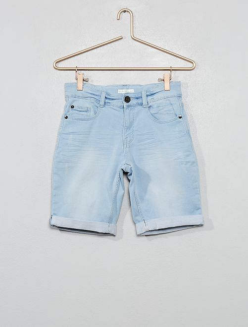 Bermuda en jean stretch                                                     double stone
