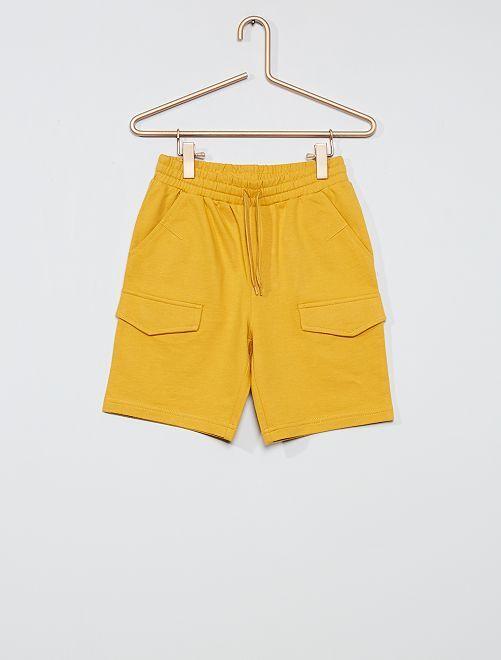Bermuda en molleton léger                                         jaune moutarde