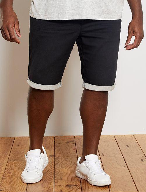 Bermuda jogg en denim                                                                             noir