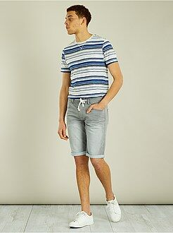 Bermuda, shorts - Bermuda jogg en denim stretch - Kiabi