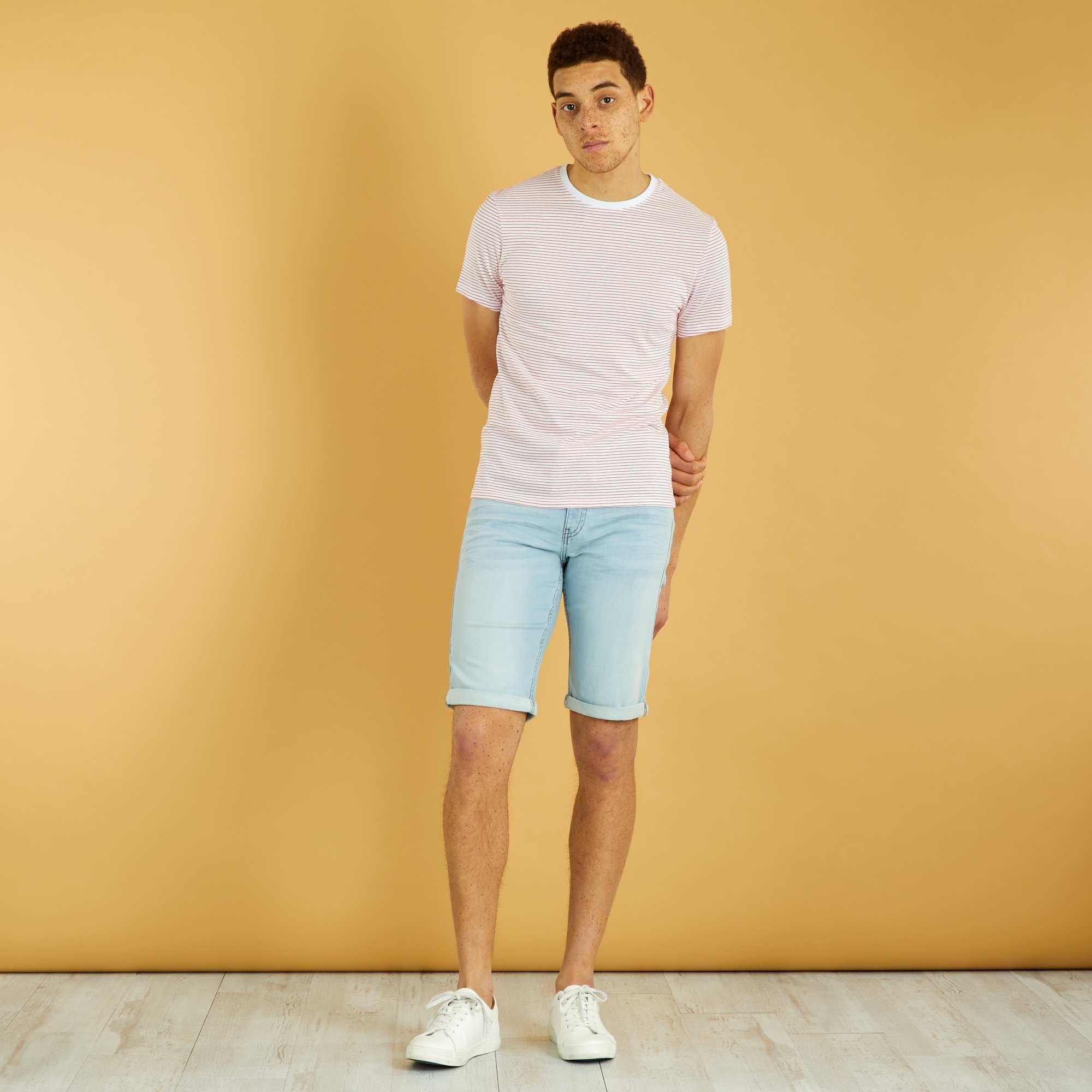 Couleur : bleach, black used, stone,, - Taille : 42, 38, 36,44,40Un essentiel des looks d'été, le bermuda en jean et sa finition roulotté ! - Bermuda