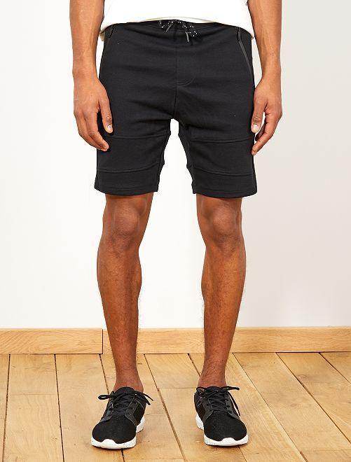 Bermuda jogg en piqué                                         noir Homme