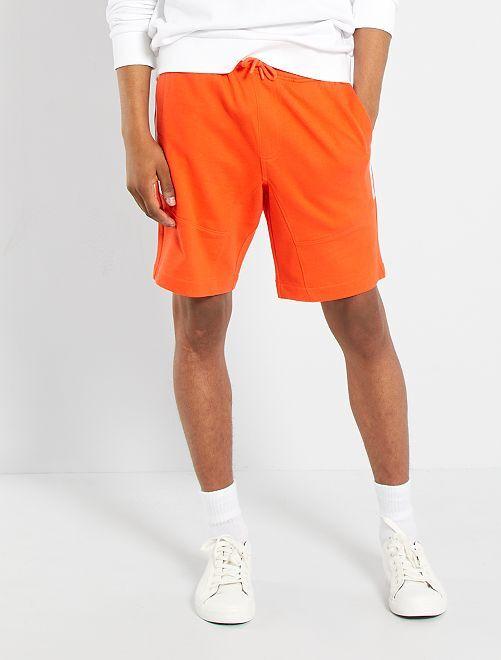 Bermuda molleton éco-conçu                                                                             orange
