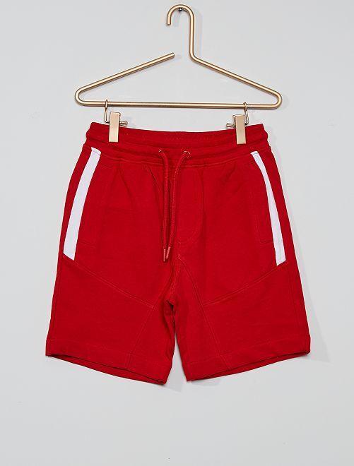 Bermuda molleton éco-conçu                                                                             rouge