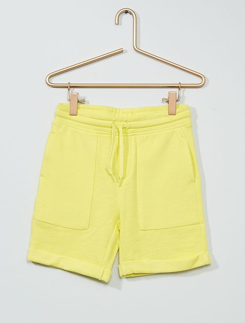 Bermuda molletonné                                                                 jaune