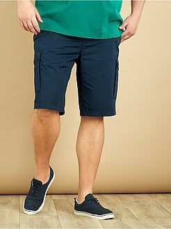 Grande taille homme Bermuda multipoches twill pur coton