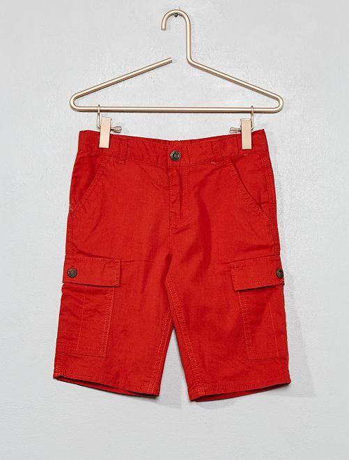 Bermuda poches cargo                                                                 orange foncé