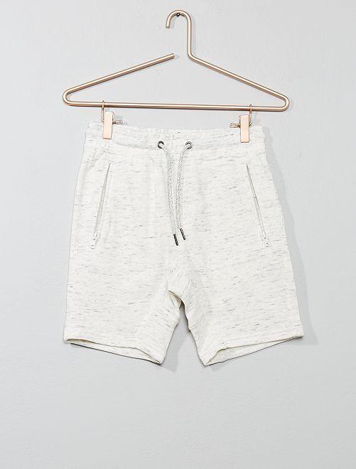 Bermuda poches zippées                                                     écru chiné Garçon adolescent