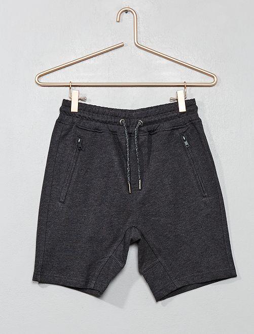 Bermuda poches zippées                                                     gris foncé Garçon adolescent
