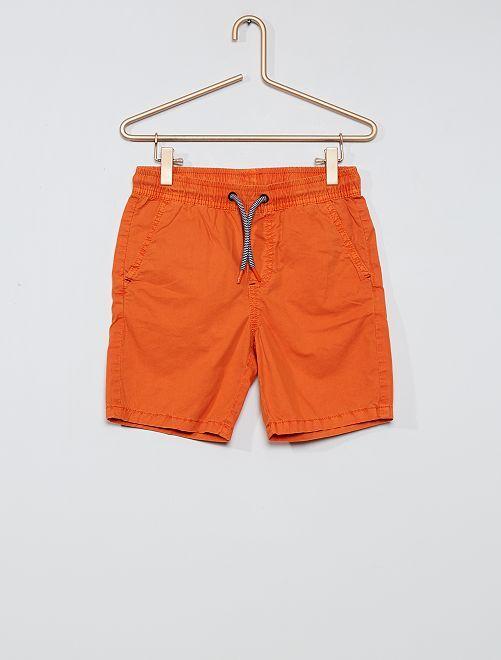 Bermuda pur coton                                         orange
