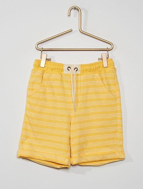 Bermuda rayé                                                                 jaune