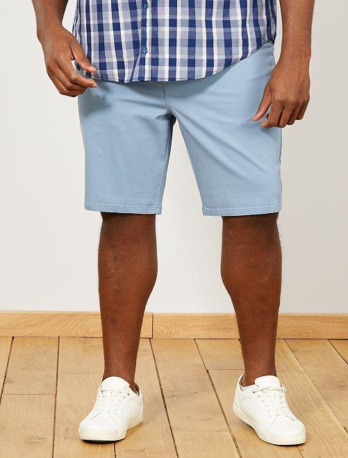 Bermuda regular en oxford                                         bleu gris pâle Grande taille homme