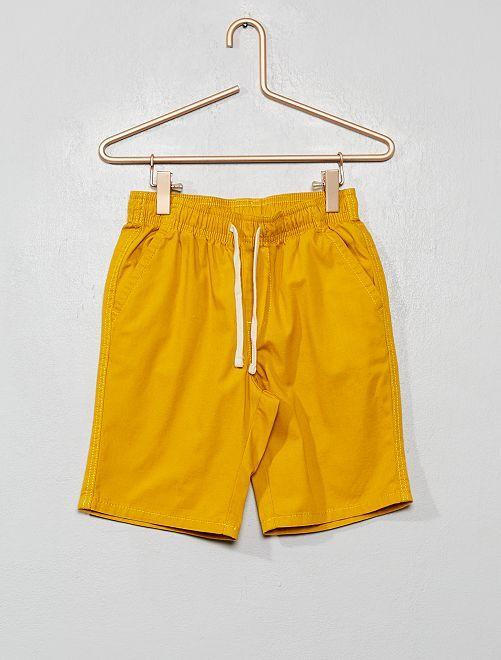 Bermuda regular taille élastiquée                                                                 jaune
