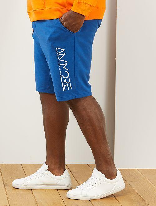 Bermuda sport imprimé                                         bleu