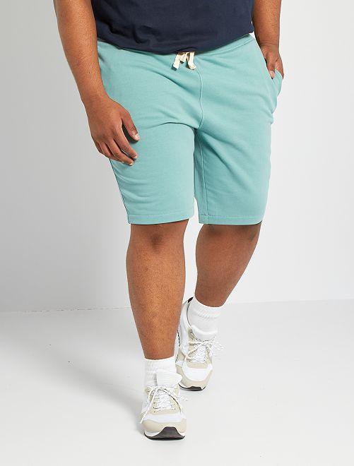 Bermuda sport molleton                                                                 vert pâle