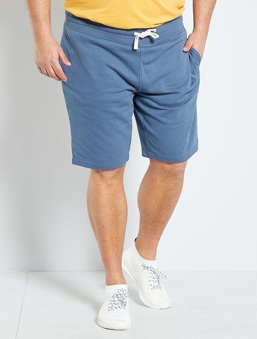 Bermuda sport molletonné                                                     bleu gris