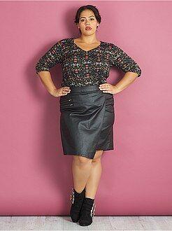 Top, blouse taille 54/56 - Blouse crêpée manches 3/4