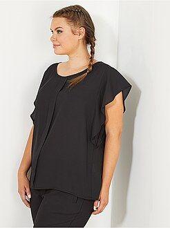 Top, blouse taille 46 - Blouse crêpée manches volantées - Kiabi