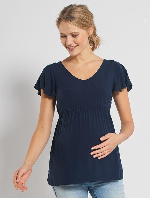 Blouse de grossesse                                                     bleu marine