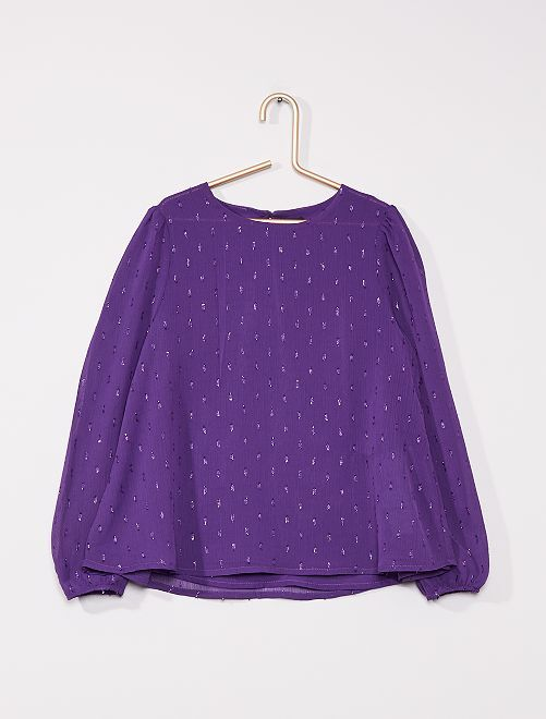 Blouse détails brillants                                                     violet