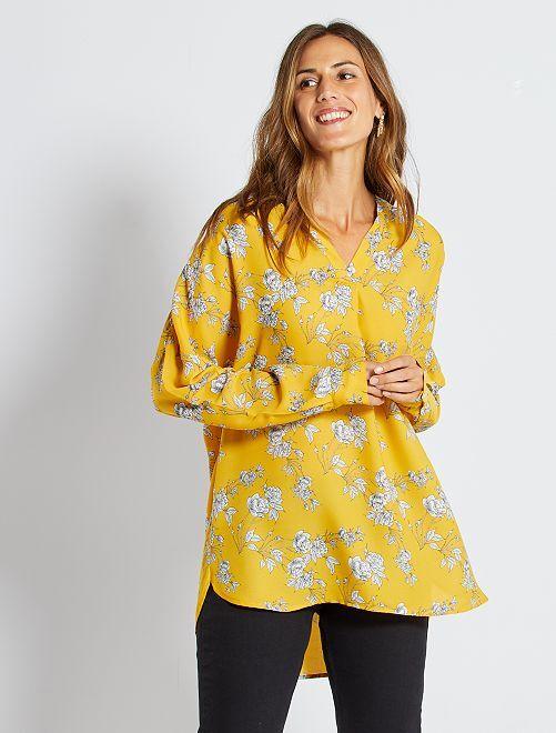 Blouse éco-conçue                                                     jaune fleuri