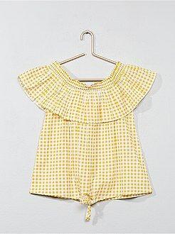 Chemise, blouse - Blouse en coton - Kiabi