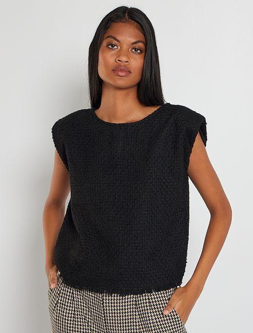 Blouse en tweed                                         noir